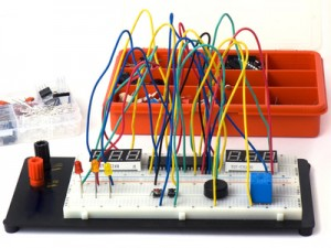 DIY electronics on breadboard