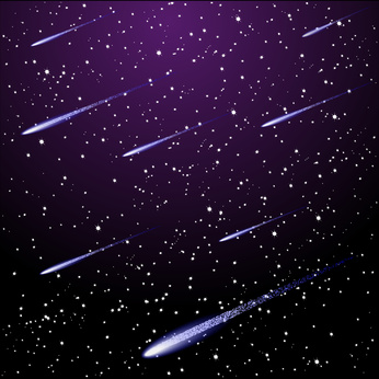 Meteors in the Night Sky