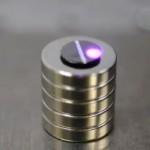 Graphite Disc Moves When Light Strikes It