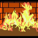 Warm Up with an 8-bit Fireplace