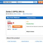 New Zelda Preorder Shows Up at Walmart Among Others