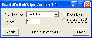 Road Kils Disk Wipe ScreenShot
