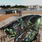 Awesome TMNT 3D Street Art