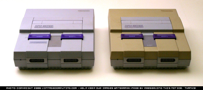 Yellowing SNES