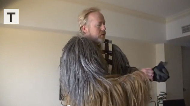 Adam Savage as Chewbacca!
