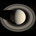 A Rare View of Saturn
