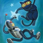 Ninja Cat vs Robot