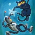 Ninja Cat vs Robot
